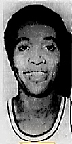 Portrait image of Bruce Bowers, David Lipscomv College basketball player, senior in 1972. Portrait from The Tennessean, Nashville, Tennessee, January 22, 1972.
