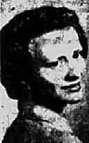 Head shot, 3/4 facing left. From The Cedar Rapids Gazette, Cedar Rapids, Iowa, December 17, 1950.