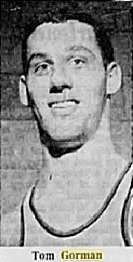 Portrait image from shoulders up of men's basketball player Tommy Gorman, Carleton University. From The Ottawa Citizen, Ottawa, Ontario, Canada, JAnuary 22, 1966.