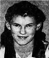 Portrait of girls basketball player, Irma (Chief) Witt, Ossian High School (Iowa). From the Des Moines Tribune, Des Moines, Iowa, December 21, 1942.