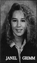 Portrait shot of Iowa girls basketball player, Janel Grimm, Deep River-Millersburg High School. From The Gazette, Cedar Rapids, Iowa, December 17, 1992.