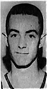 Portrait image of boys basketball player Jerry Gates of Blountstown High, Florida. From The Pensacola News-Journal, February 25, 1962.