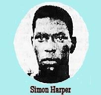 Head shot of Floridian boys basketball player Simon Harper, Oviedo High School. From te Orlando Sentinel, Orlando, Florida, February 4, 1967..