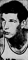 3/4 portrait facinh his left, of Bill Spivey, basketball player. From The Cumberland News, Cumberland, Maryland, March 21, 1953.