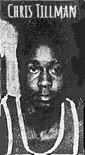 Portrait image from shoulders up of boys basketball player, Chris Tillman of the Permanent Savings team in the Meriden, Connecticut Boys Club John D. Shaw 'B' League for 13 to 14 year olds. From The Journal, Meriden-Stonington, Conn., 2/18/1974.