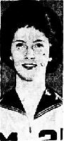 Portrait of Judy Vos, girls basketball player for Mitchellville High School (Iowa). From the Des Moines Tribune, Des Moines, Iowa, December 17, 1962.