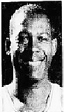 .Smiling head shot of Waite Bellamy, Eastern Basketball Association player for the Wilmington Blue Bombers, from the Evening Journal, Wilmington, Delaware, February 16, 1970.