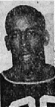 Image of Ernie Warlick, Bolling Air Force Base basketball player. Portrait from the Star-Gazette, Elmira, New York, April 8, 1957.