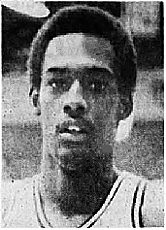 Portrait of Alvin Fields, boys high school basketball player for the Yorktown Tigers in Indiana. From the Muncie Evening Press, February 20, 1978.