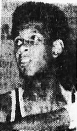 3/4s portrait photo of John Drew, Monroe County Training School basketball player. Scored 77 and 74 points in two consecutivegames. Picture from the Alabama Journal, Montgomery, Alabama, February 18, 1972.