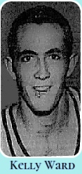 Image of Floridian high school basketball player, Kelly Ward, Lake Worth Trojan in 1960. Portrait from The Palm Beach Post-Times, January 31, 1960.
