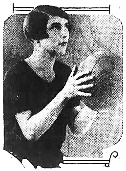 Image of Nargaret McBurney, Edmonton Grad basketball player, shown shooting a foul shot. From the Wilkes-Barre Record, Wilkes-Barre, Pennsylvania, March 27, 1928.