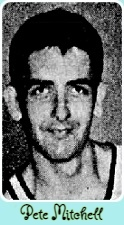 Portrait photo of Florida high school basketball player Pete Mitcell, Palm Beach Wildcat; from The Miami Herald, Miami, Florida, February 2, 1965
