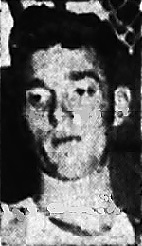 Portrait image of Alabama boys basketball player Renea Watts, Alexandria Valley Cubs boy high school basketball player, looking downward to his right. From The Anniston Star, Anniston, Alabama, February 12, 1956.